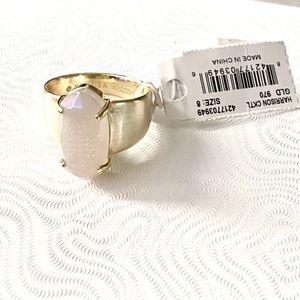 NWT Kendra Scott Harrison Druzy Gold Ring